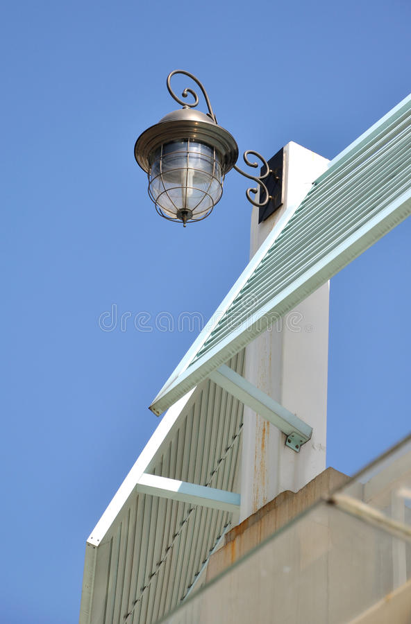 Download Lamp On Construction Alone Stock Photo - Image: 24082590