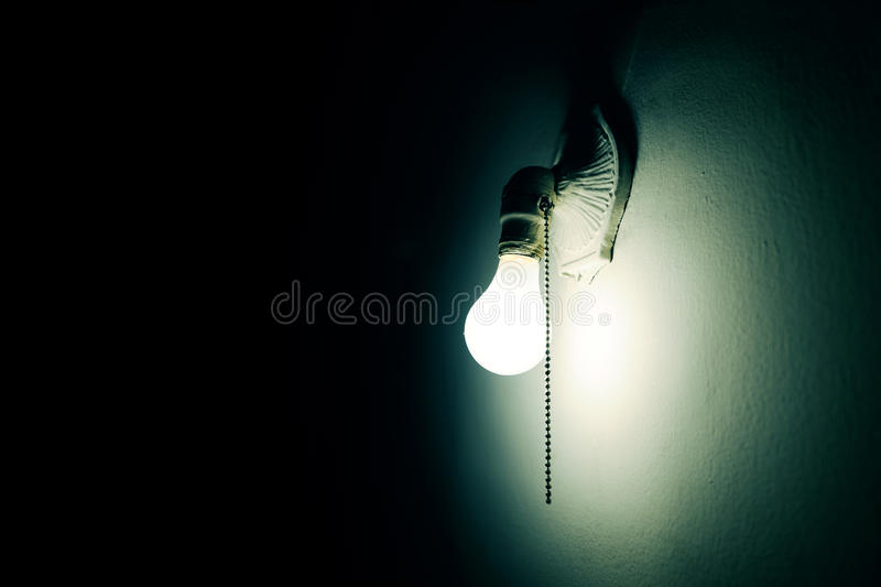 Lamp in the dark royalty free stock image