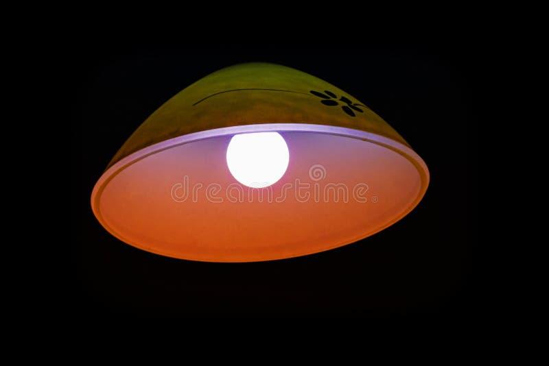 Lamp in dark stock illustratie