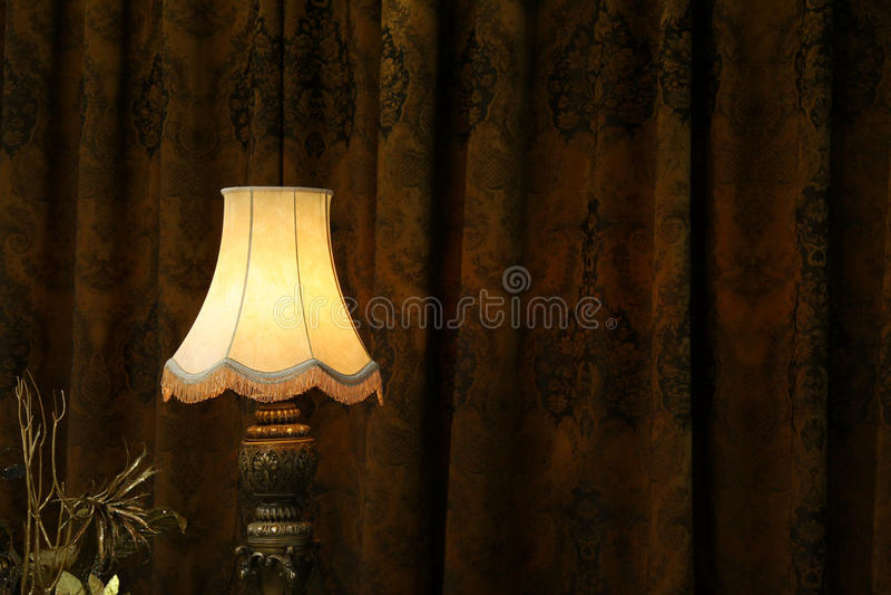Lamp in dark. stock image