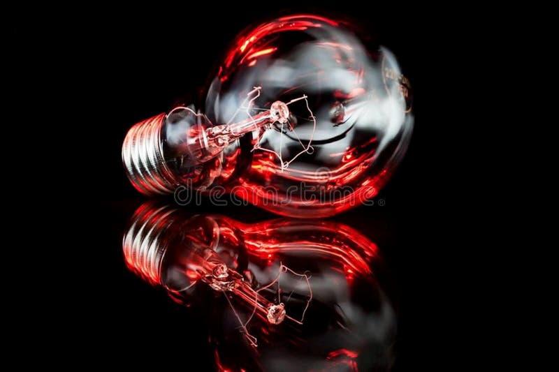 Lamp in dark royalty-vrije illustratie