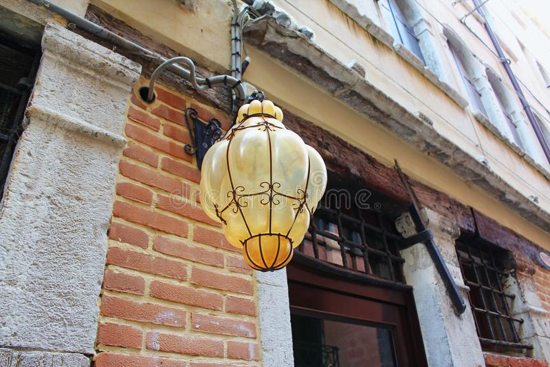 Lamp in de straten van Veneza royalty-vrije stock foto