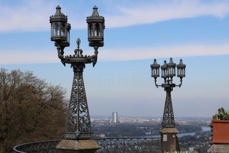 Lamp. In Drachenburg stock photography
