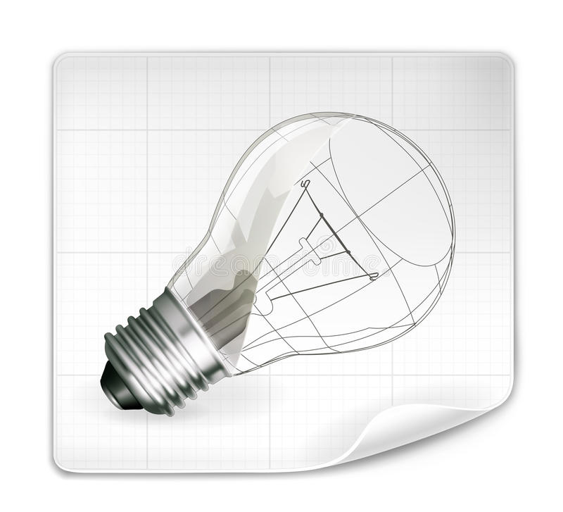 Lamp drawing vector illustration