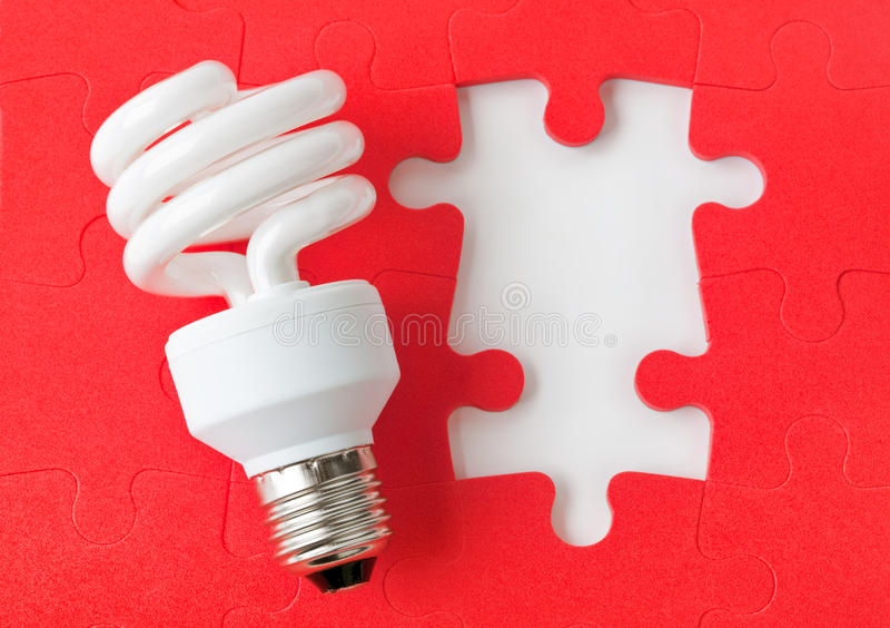 Lamp en raadsel stock foto
