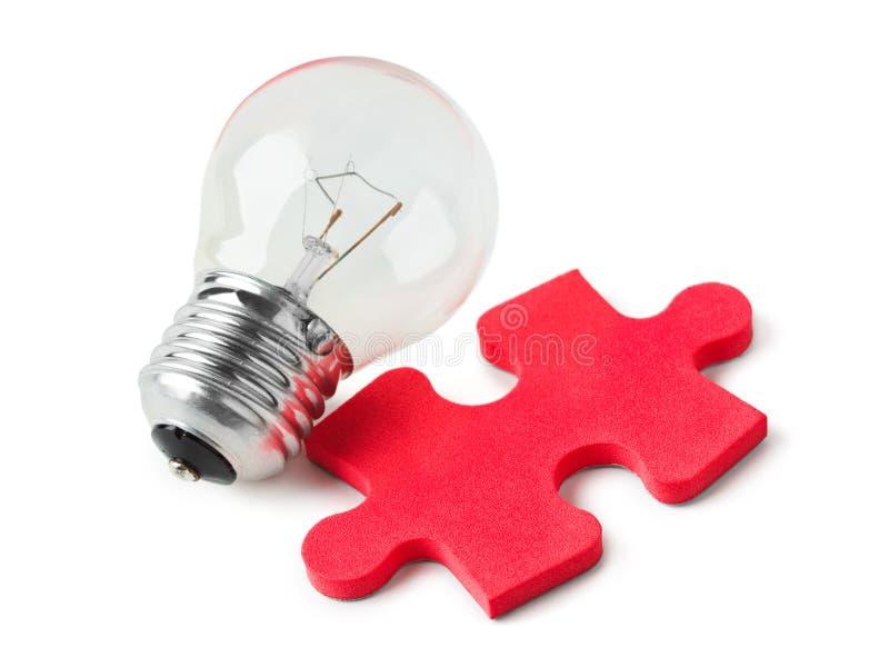 Lamp en raadsel stock afbeeldingen