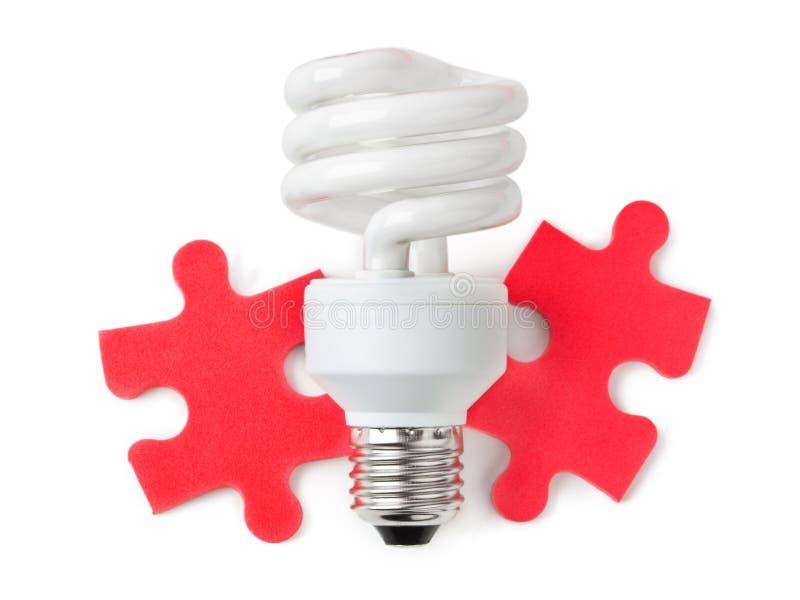 Lamp en raadsel royalty-vrije stock foto