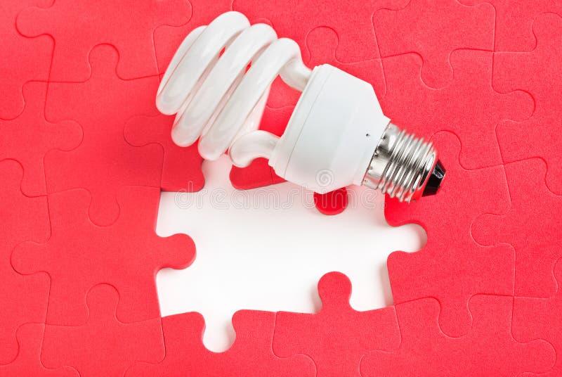 Lamp en raadsel royalty-vrije stock afbeeldingen