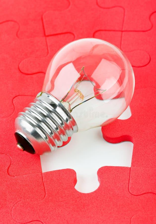 Lamp en raadsel royalty-vrije stock foto's