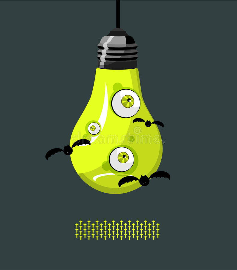 Download Lamp with eyes A stock illustration. Illustration of animation - 16656036