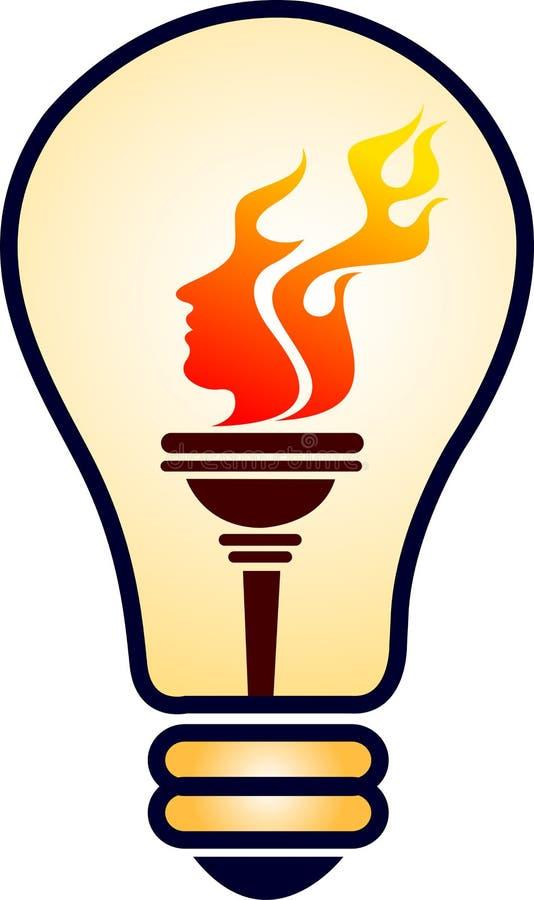Lamp face vector illustration