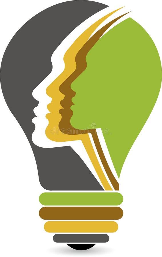 Lamp face logo royalty free illustration