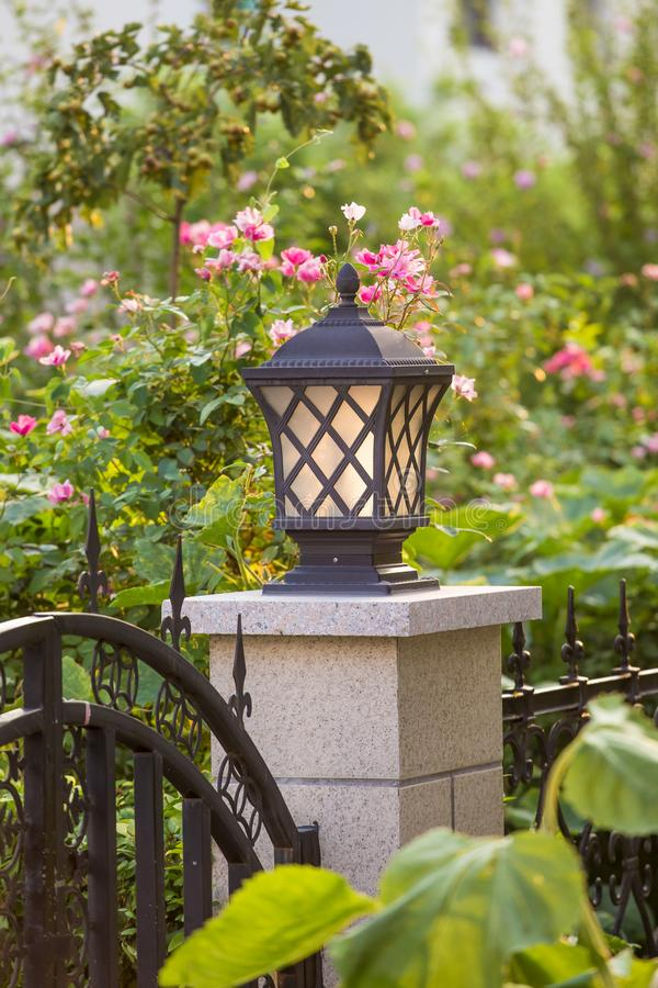 The light in front of the yard royalty free stock photo