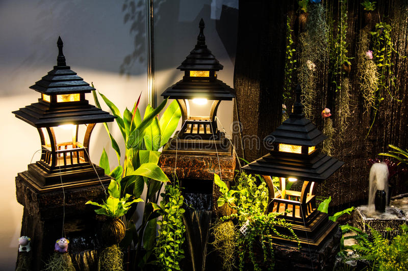 Lamp for garden decoration stock image