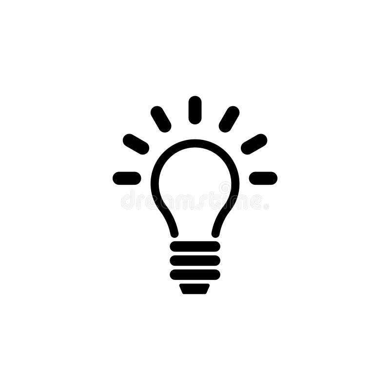 Lamp, Gloeilamp, Idee Vlak Vectorpictogram vector illustratie