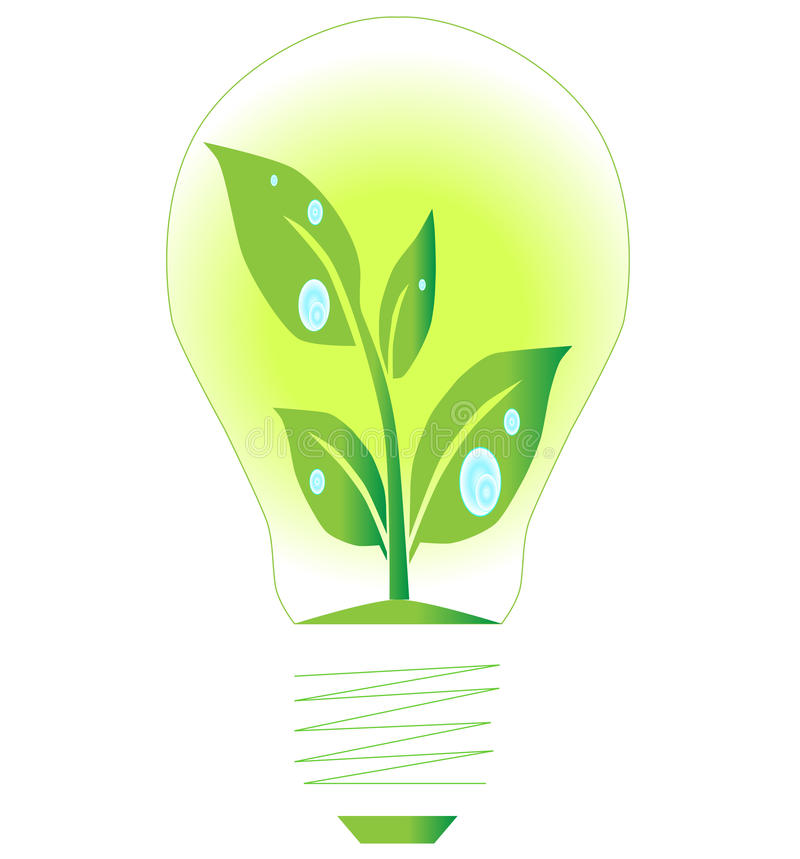 Lamp green energy royalty free stock photography