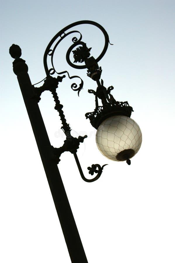 Lamp in hemel royalty-vrije stock foto's