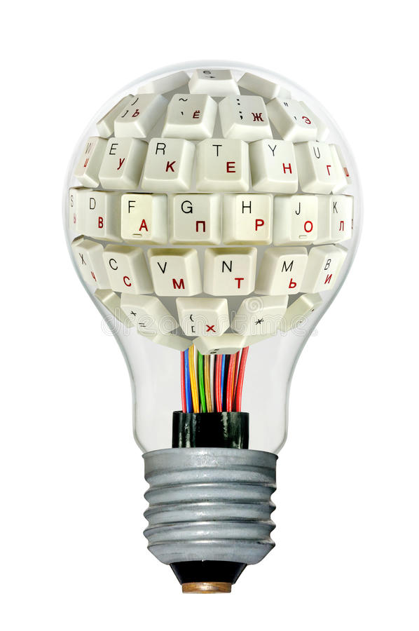Lamp With A Keyboard Royalty Free Stock Image