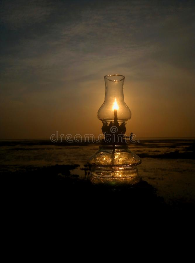 Lamp. Landscape Phone Photography stock image