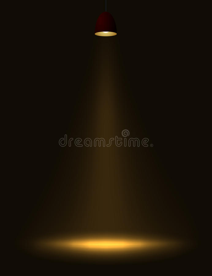 Download Lamp light. stock vector. Image of lamp, source, background - 13015565
