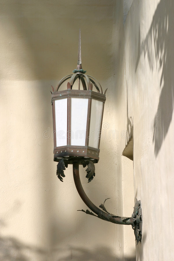 Lamp light old wall