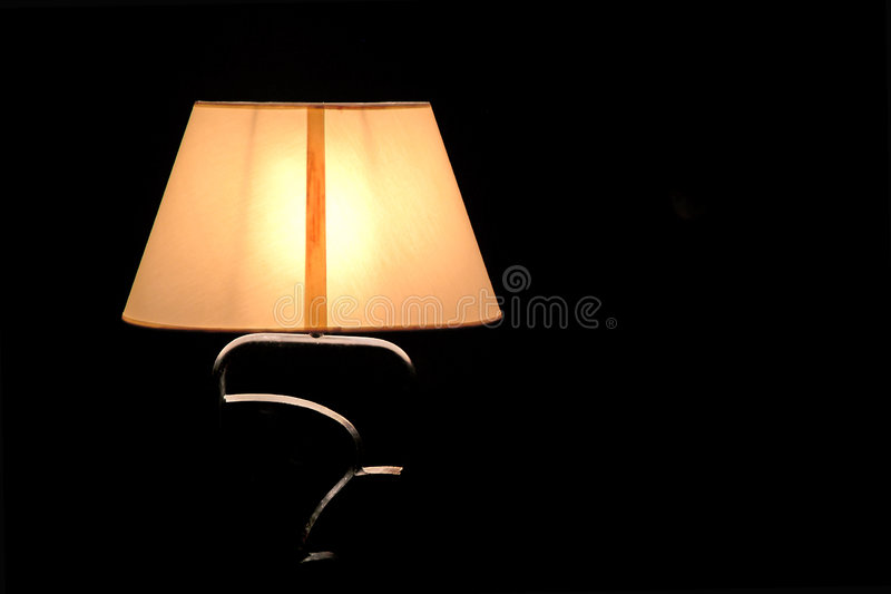Lamp lighted. Isolated royalty free stock photos