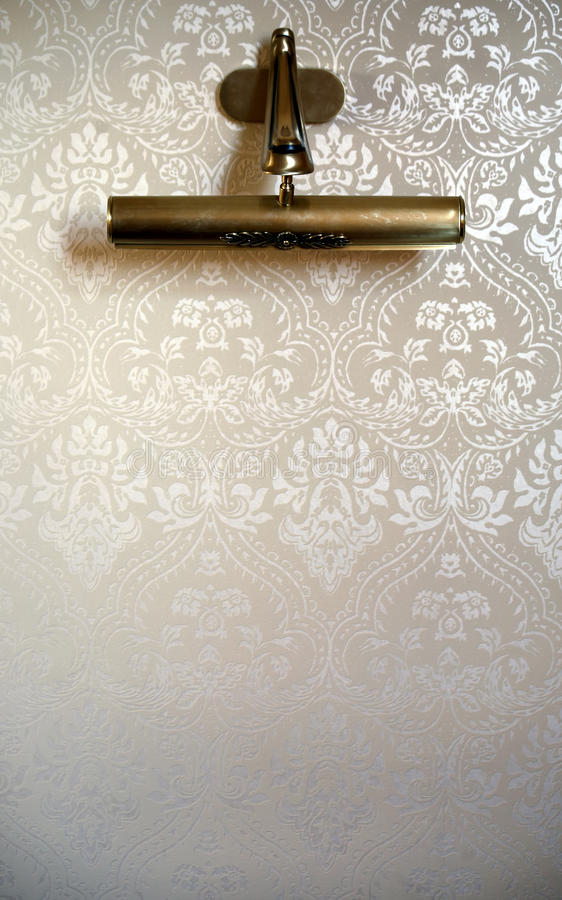 Lamp on luxury wall stock images