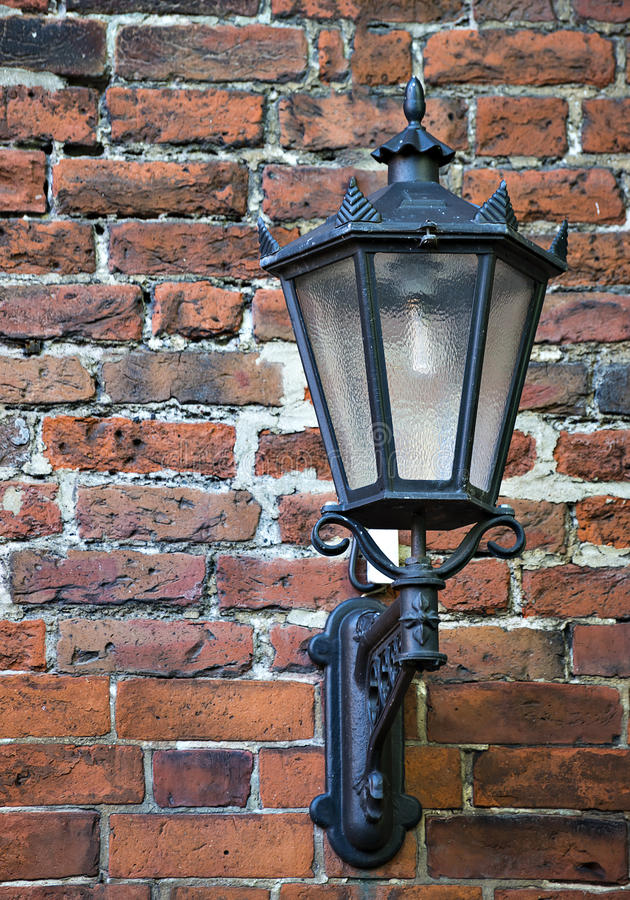 Download Lamp On Medieval Street, Old Riga Stock Image   Image Of Riga,  Decorative