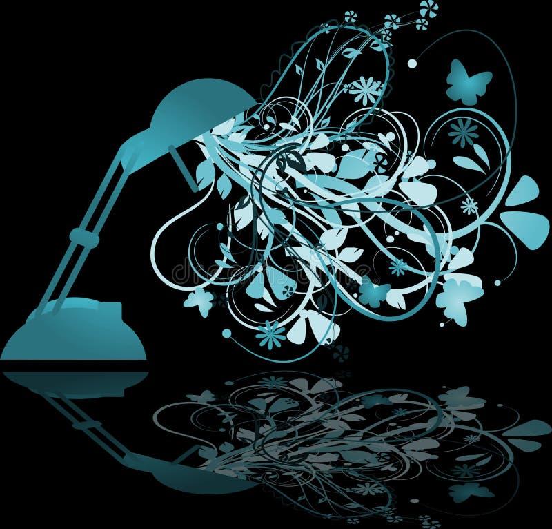 Lamp met bloemenornamenten vector illustratie