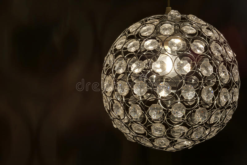 Lamp met diamanten stock fotografie
