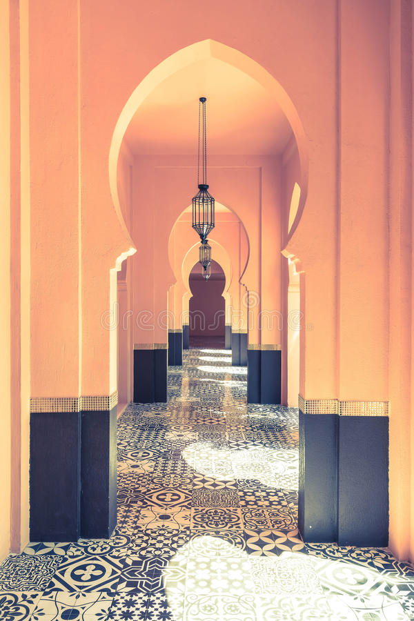Lamp with Morocco architecture style. Beautiful Lamp with Morocco architecture style royalty free stock image