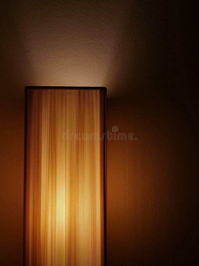 Lamp in nacht stock foto's