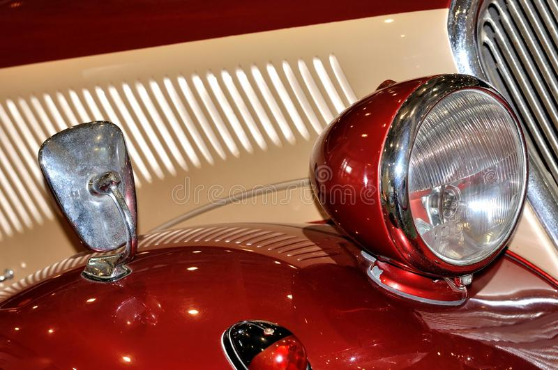 Download Lamp On Old Style Car Royalty Free Stock Photos - Image: 27857968