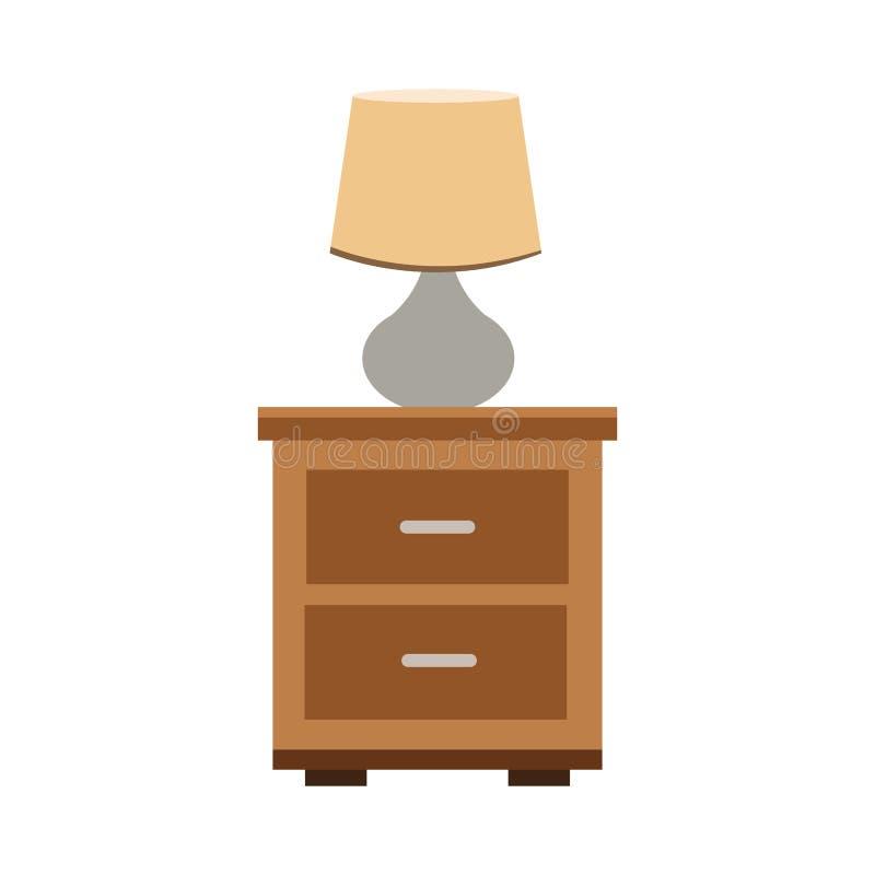 Lamp op lade vector illustratie