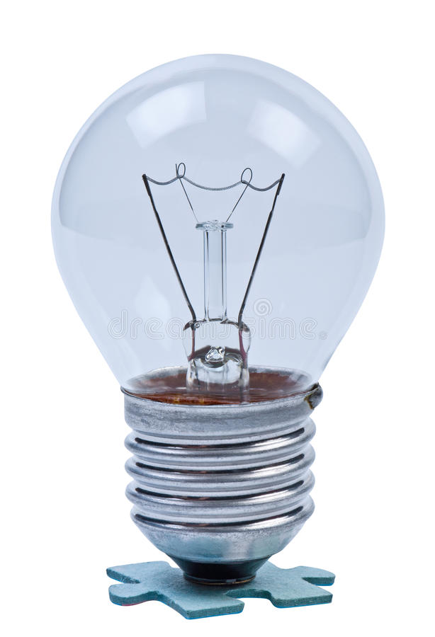 Lamp op raadsel. stock afbeelding