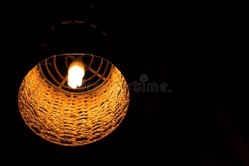 Lamp, orange light decorative in home stock photography