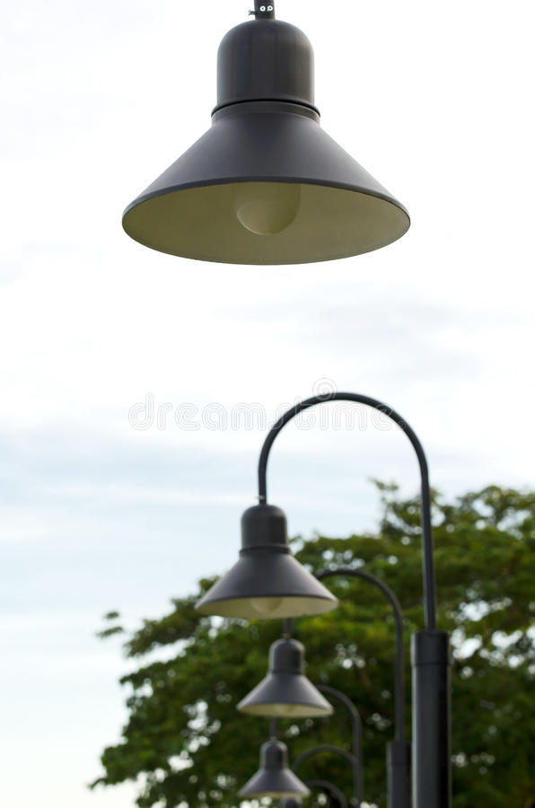 Lamp Park stock image