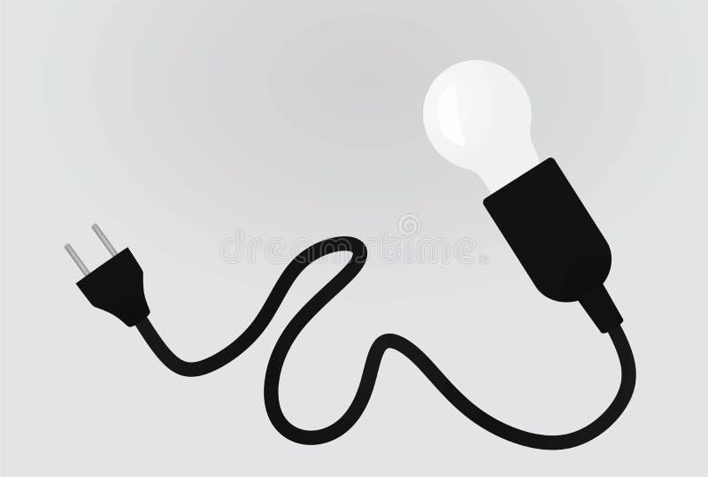Lamp and plug. Vector illustration vector illustration