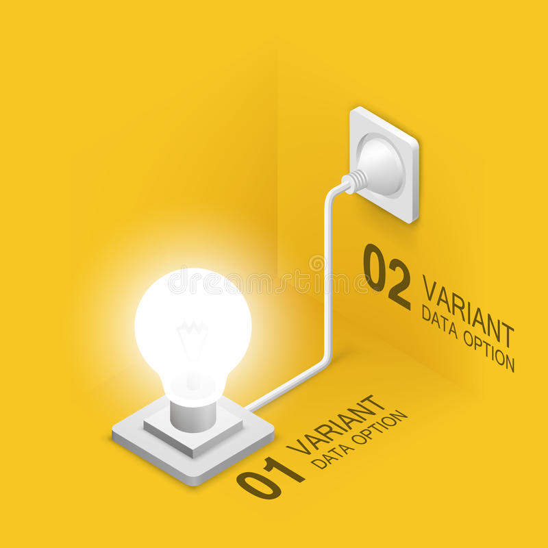 Lamp plugged in stock illustration