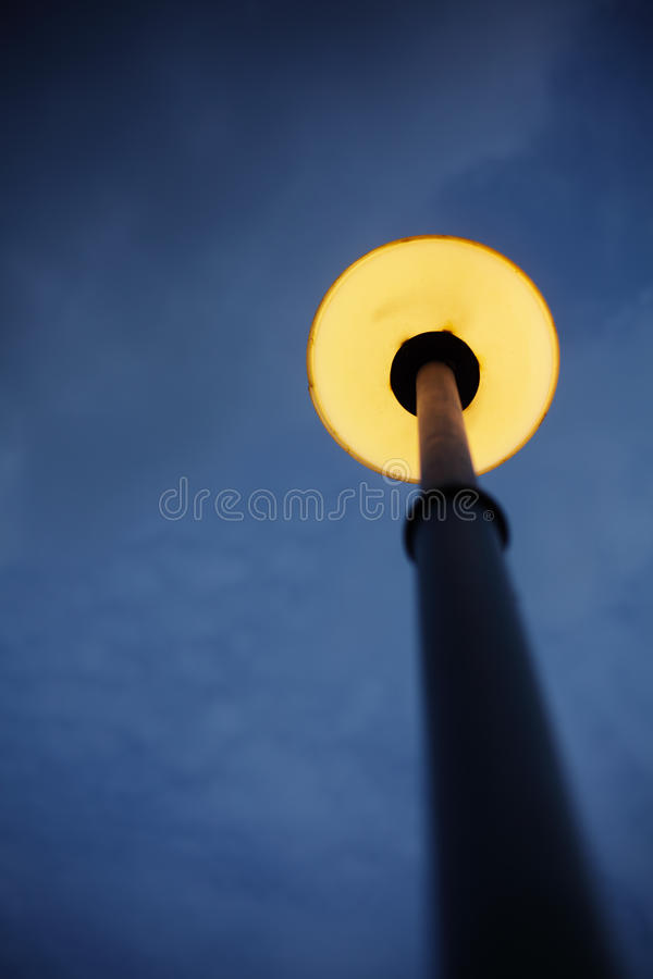 Lamp Post. In The Dark royalty free stock images