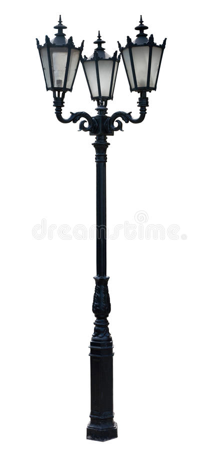 Lamp post. Street lampost. streetlight collection. isolated on white background royalty free stock image