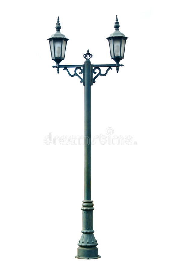 Lamp Post. Lamppost Street Road Light Pole isolated royalty free stock images
