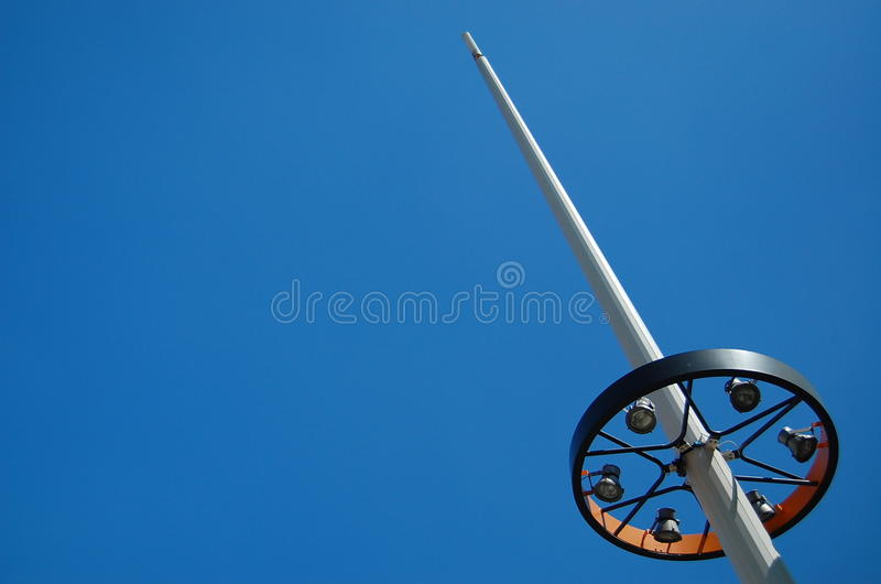 Lamp post. Against a blue sky stock photography