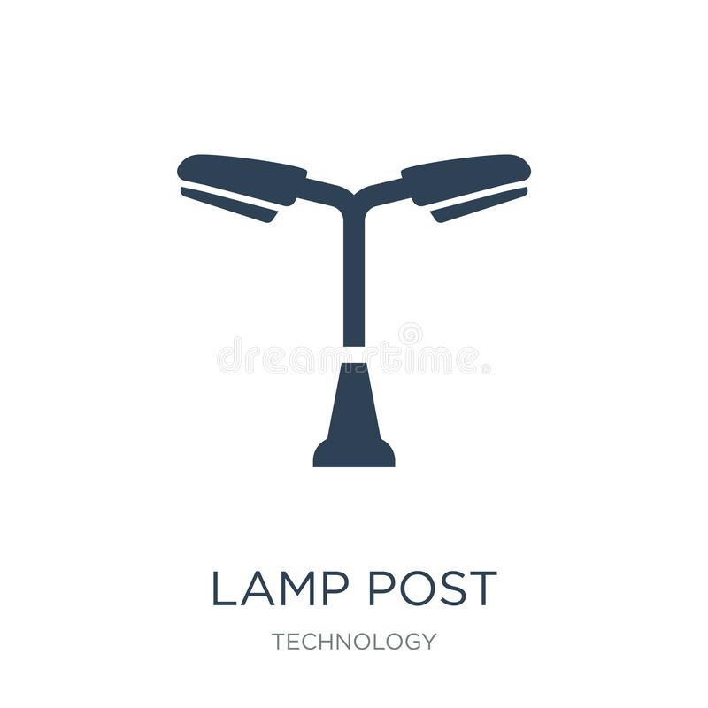 Lamp post icon in trendy design style. lamp post icon isolated on white background. lamp post vector icon simple and modern flat. Symbol for web site, mobile royalty free illustration