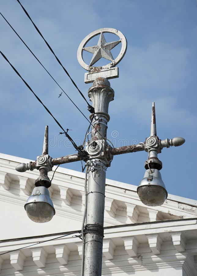 Lamp post in the style of Stalin`s Empire royalty free stock images