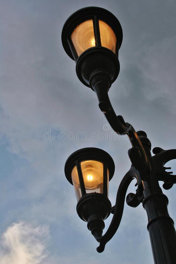 Lamp Post. A vintage inspired modern lamp post stock image