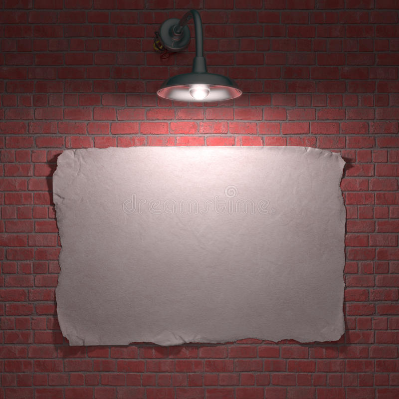 Download Lamp Poster stock illustration. Illustration of light - 27663119