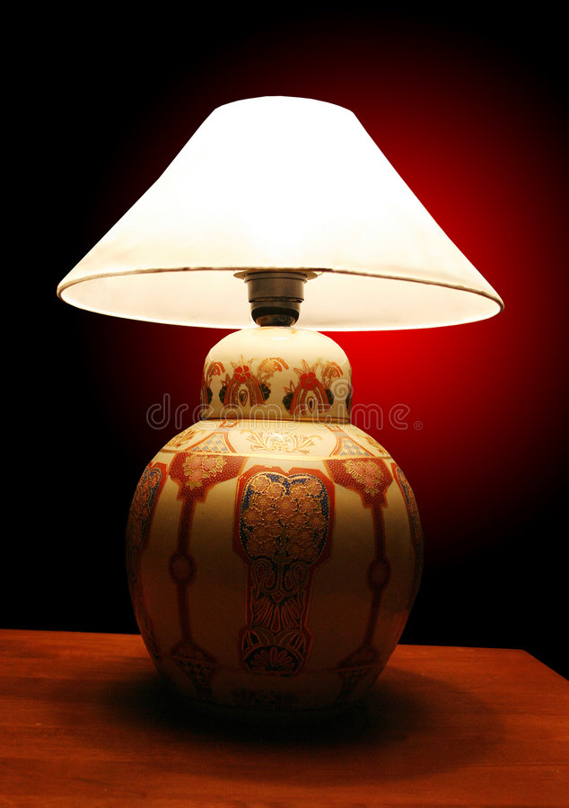 Download Lamp Shade stock photo. Image of shine, study, read, bedroom - 2631576