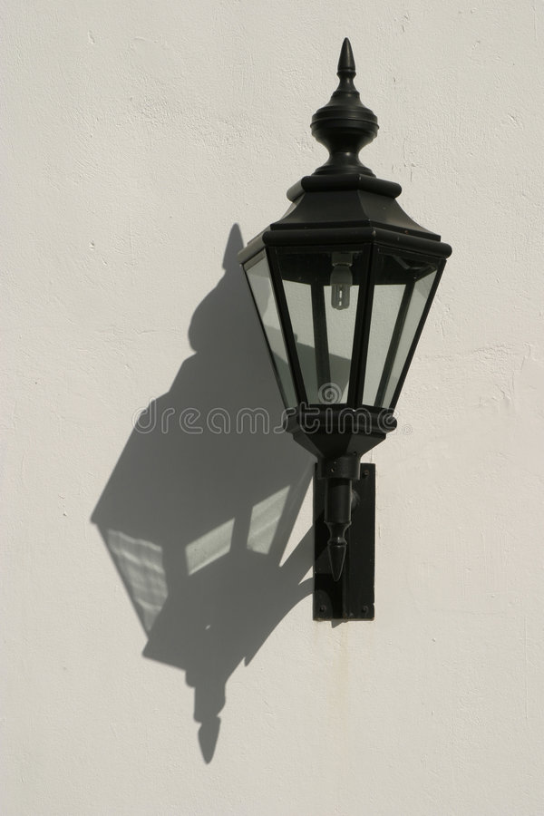 Lamp and Shadow stock image