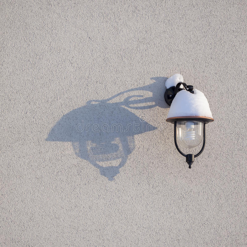 Lamp and shadow stock images